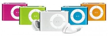 Apple iPod Shuffle in 5 colori