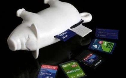 USB Piggy Card Reader: oink oink!