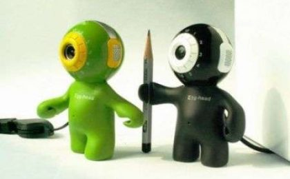 Bubble Head: omino-Webcam