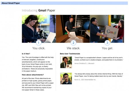 Gmail Paper, stampa le email Google!
