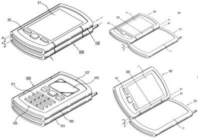 Cellulare Samsung con schermo ribaltabile