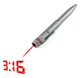 Laser che proietta l'ora