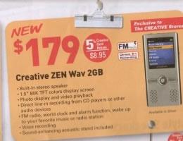 Creative Zen Wav a fine anno