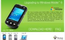 HTC upgrade free a Windows Mobile 6