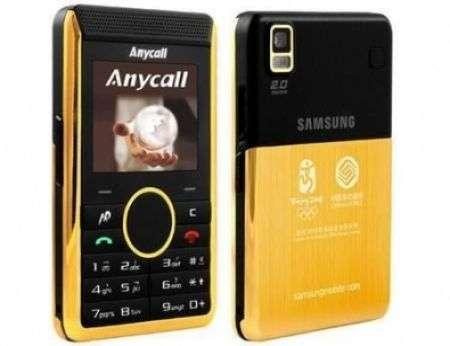 Samsung P318+ in oro per le Olimpiadi 2008