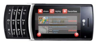 Cellulare Youtube prodotto da LG