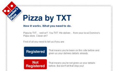 Con Domino, ordina la pizza via SMS in UK!