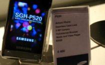 Armani Samsung P520: risposta a Lg Prada e Motorola D&G