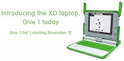 OLPC Give 1 Get 1 a 399$: compri uno ne regali un altro