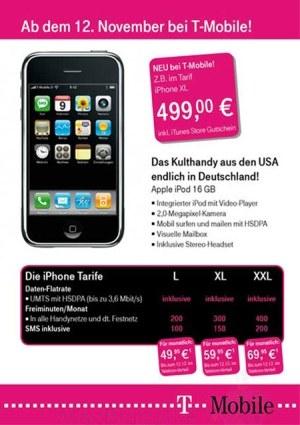 T-Mobile iPhone Europa 3G, HSDPA e 16 GB: prezzi e caratteristiche