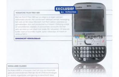 Palm Treo 500 in arrivo