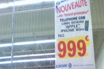 iPhone sbloccato nei supermercati francesi a 999 Euro
