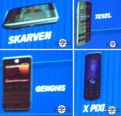 Motorola Z12 Textel, Skraven, Genghis e X Pixl