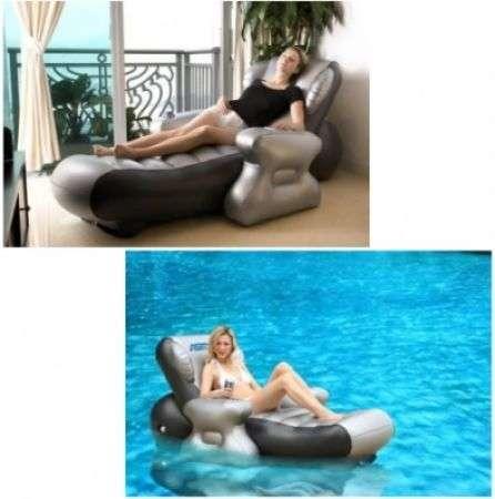 Poltrona massaggiante gonfiabile e multimediale