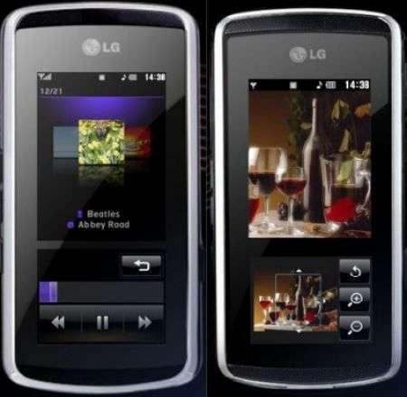 LG KF600: con InteractPad