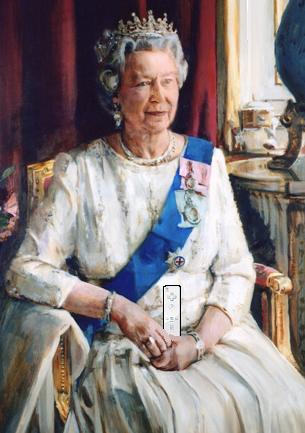 La Regina Elisabetta II maga del Wii