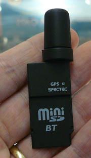 Ricevitore Spectec GPS Mini SD con Bluetooth