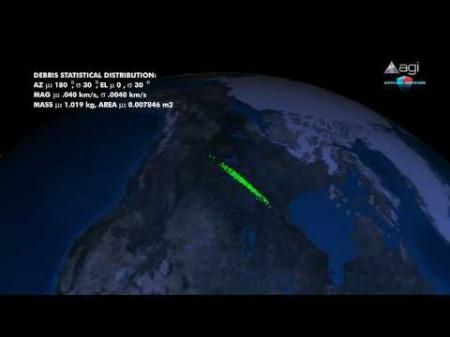 Satellite spia americano abbattuto video dell'esplosione