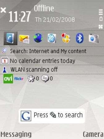 Google Search Client per S60