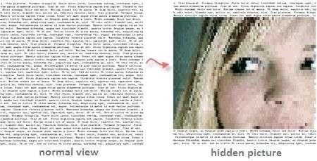 Nascondere un'immagine in un testo con Highlite