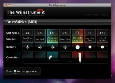the wiinstrument on leopard