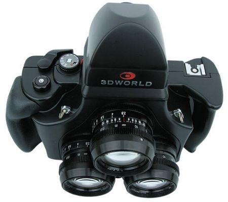 3d world 120 tri lens stereo camera