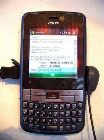 Asus M536 con Windows Mobile 6.1