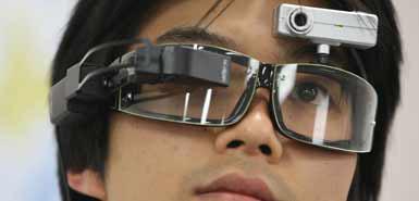Occhiali che ricordano gli oggetti