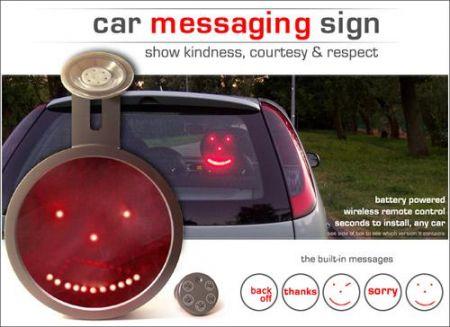 """Driving Led Emoticon per """"comunicare"""" nel traffico"""