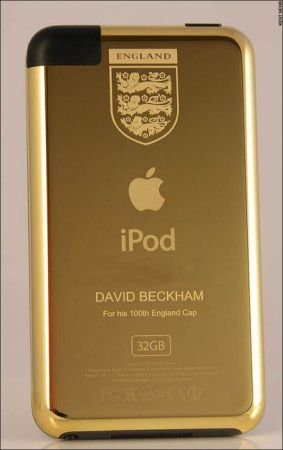 iPod d'Oro per le 100 presenze di Beckham in nazionale