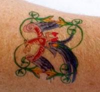 Tatuaggi temporanei dalla stampante