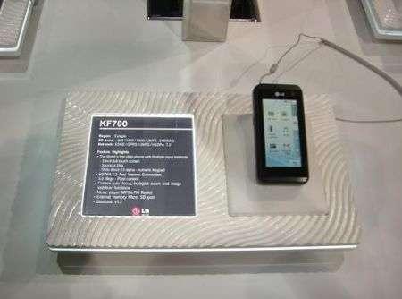 LG KF700 pronto al commercio