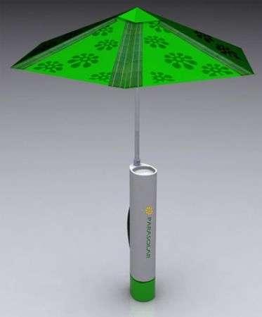 Parasolar umbrella: ombrellone a energia solare