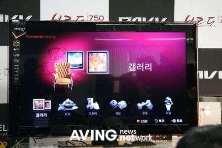 Samsung PAVV Bordeaux 750 HDTV con Content TV
