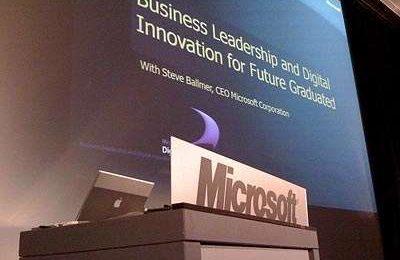 Ballmer con un Mac Pro alle presentazioni Microsoft