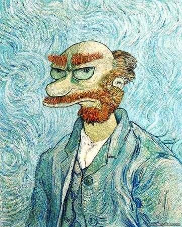 I Simpson dipinti a Olio