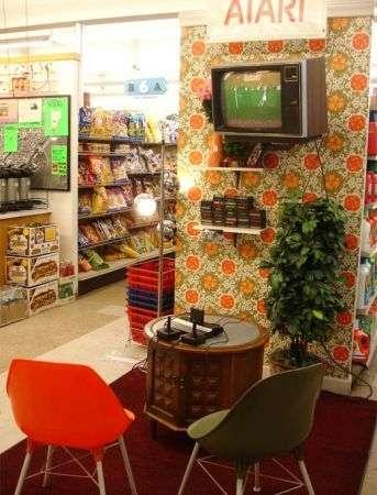 Postazione Atari in un minimarket USA