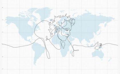 L'autoritratto più grande del mondo, grazie al GPS e a DHL