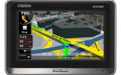 Clarion MAP680 & MAP780 GPS con mappe 3D