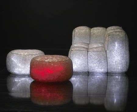 Divani e cuscini illuminati a LED