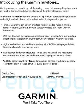 Garmin Nuviphone con AT&T