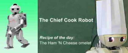 Il Robot che cucina l'omelette con il wiimote
