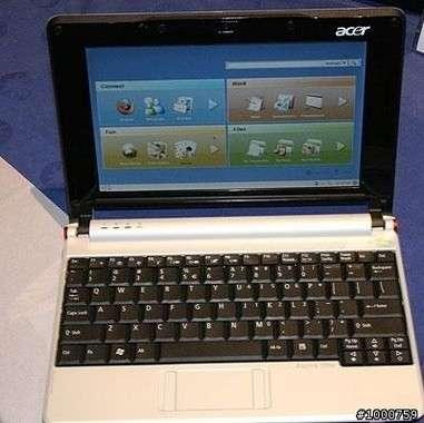 Acer Aspire One: ecco il subnotebook