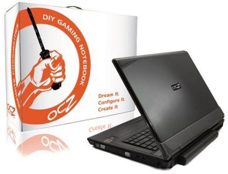OCZ DIY gaming laptop