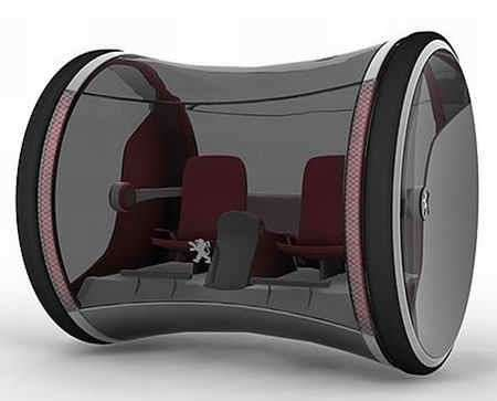 Peugeot Ozone: macchina a idrogeno rotolante