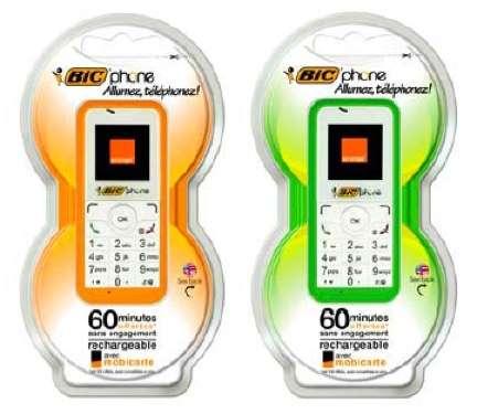 BicPhone: cellulare usa e getta