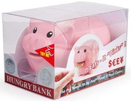 Hungry Bank: il maialino salvadanaio mangia le monete!