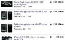 iPhone 3G: su eBay si scatena lasta
