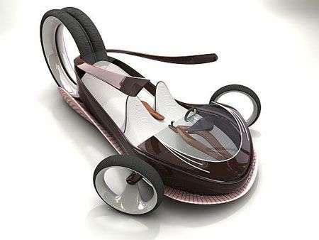 L'auto magnetica a forma di scarpa