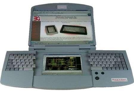 La tastiera computer con doppio schermo